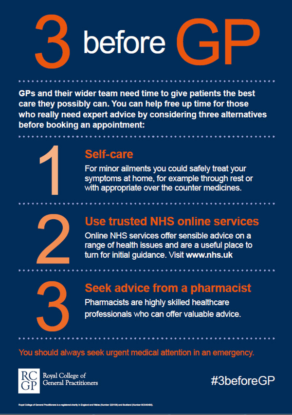 Three services before GP advice